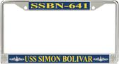 USS Simon Bolivar SSBN-641 License Plate Frame