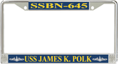 USS James K. Polk SSBN-645 License Plate Frame