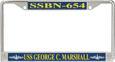 USS George C. Marshall SSBN-654 License Plate Frame