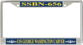 USS George Washington Carver SSBN-656 License Plate Frame