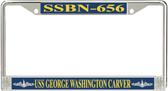 USS George Washington Carver SSBN-656 License Plate Frame