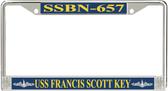 USS Francis Scott Key SSBN-657 License Plate Frame