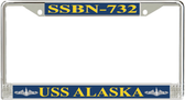 USS Alaska  SSBN-732 License Plate Frame