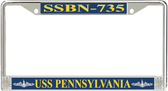 USS Pennsylvania  SSBN-735 License Plate Frame