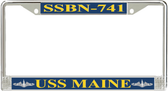 USS Maine  SSBN-741 License Plate Frame