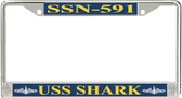 USS Shark SSN-591 License Plate Frame