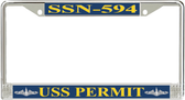 USS Permit SSN-594 License Plate Frame