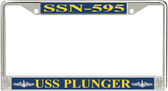 USS Plunger SSN-595 License Plate Frame