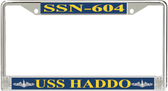 USS Haddo SSN-604 License Plate Frame