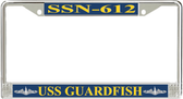 USS Guardfish SSN-612 License Plate Frame