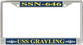 USS Grayling SSN-646 License Plate Frame
