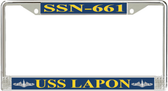 USS Lapon SSN-661 License Plate Frame