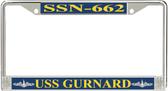 USS Gurnard SSN-662 License Plate Frame