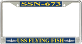 USS Flying Fish SSN-673 License Plate Frame