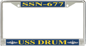 USS Drum SSN-677 License Plate Frame