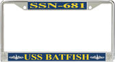 USS Batfish SSN-681 License Plate Frame
