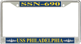 USS Philadelphia SSN-690 License Plate Frame