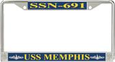 USS Memphis SSN-691 License Plate Frame