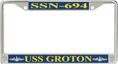 USS Groton SSN-694 License Plate Frame