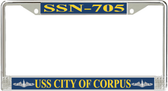 USS City of Corpus SSN-705 License Plate Frame