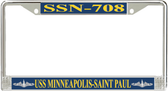 USS Minneapolis-Saint Paul SSN-708 License Plate Frame