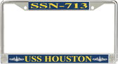 USS Houston SSN-713 License Plate Frame