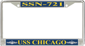 USS Chicago SSN-721 License Plate Frame