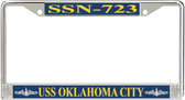 USS Oklahoma City SSN-723 License Plate Frame