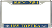 USS Topeka SSN-754 License Plate Frame