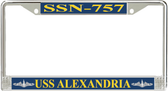 USS Alexandria SSN-757 License Plate Frame
