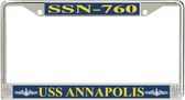 USS Annapolis SSN-760 License Plate Frame