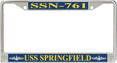 USS Springfield SSN-761 License Plate Frame