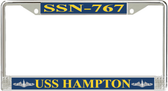 USS Hampton SSN-767 License Plate Frame