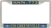USS Greeneville SSN-772 License Plate Frame