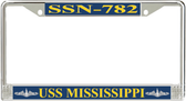 USS Mississippi SSN-782 License Plate Frame