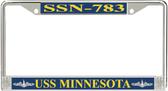 USS Minnesota SSN-783 License Plate Frame
