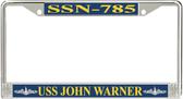 USS John Warner SSN-785 License Plate Frame