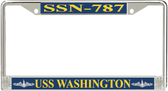 USS Washington SSN-787 License Plate Frame