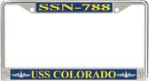 USS Colorado SSN-788 License Plate Frame