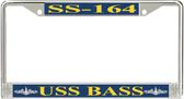 USS Bass SS-164 License Plate Frame
