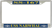 USS Narwhal SS-167 License Plate Frame