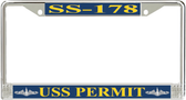 USS Permit SS-178 License Plate Frame