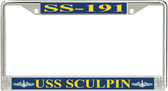USS Sculpin SS-191 License Plate Frame