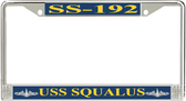 USS Squalus SS-192 License Plate Frame