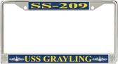 USS Grayling SS-209 License Plate Frame