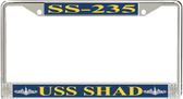 USS Shad SS-235 License Plate Frame