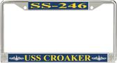 USS Croaker SS-246 License Plate Frame
