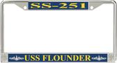 USS Flounder SS-251 License Plate Frame