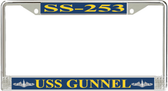 USS Gunnel SS-253 License Plate Frame