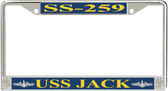 USS Jack SS-259 License Plate Frame